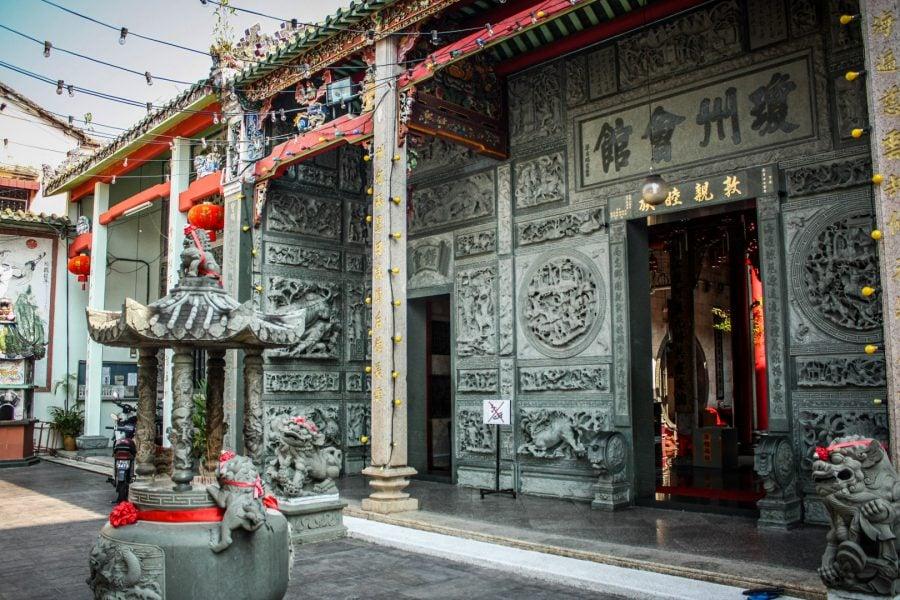 Templu chinezesc pe strada Muntri