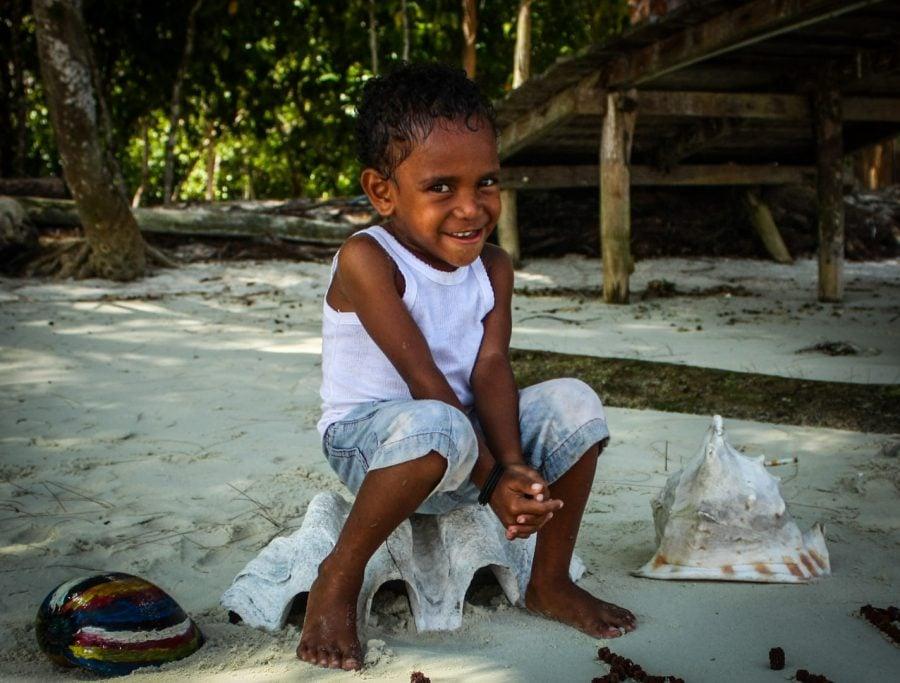 Băiețel papuan