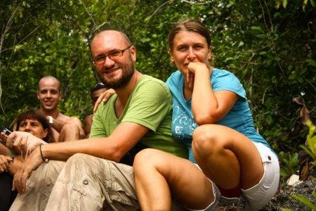 Cristi și Adriana în Papua