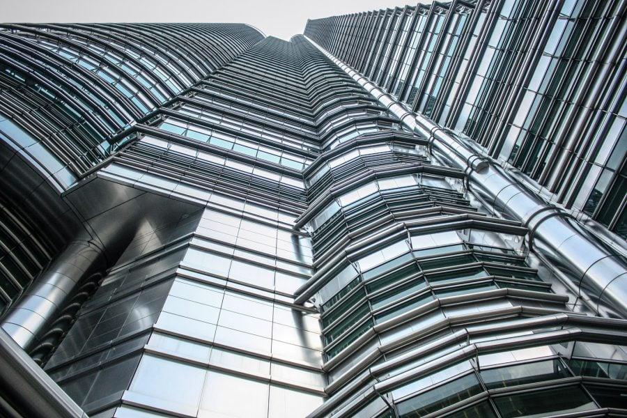 Fațadă Turnurile Petronas din Kuala Lumpur