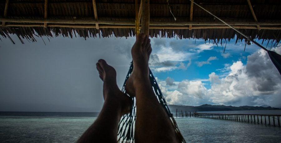 Furtună și soare din hamac