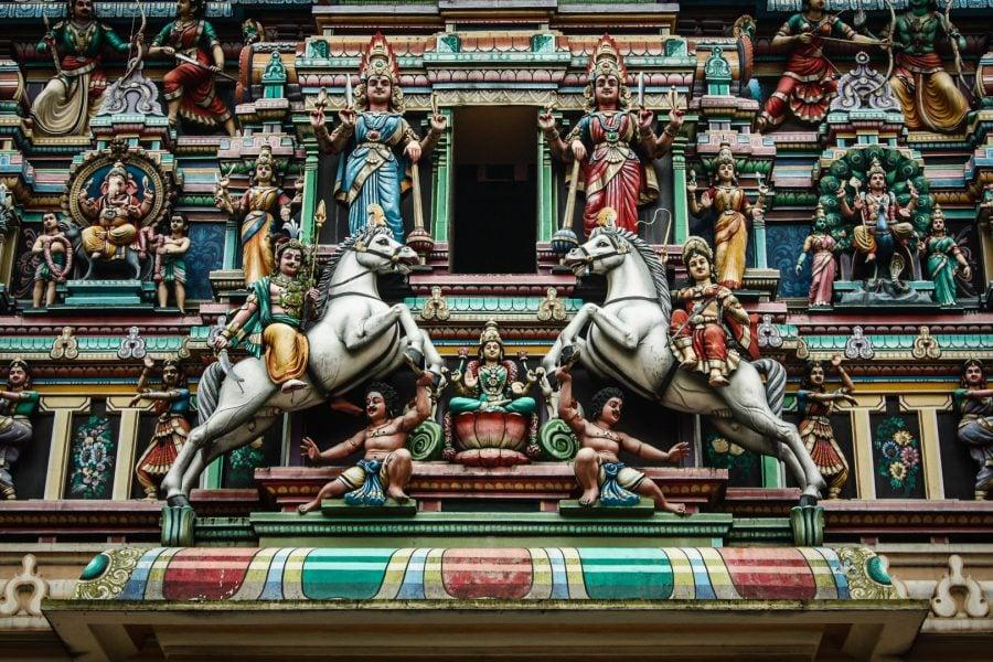 Poartă templu indian Kuala Lumpur
