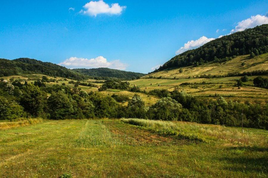 Priveliste frumoasa din satul Bigar