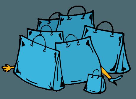 Desen pungi de shopping