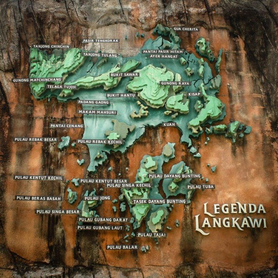 Legenda Park, harta arhipelagului langkawi