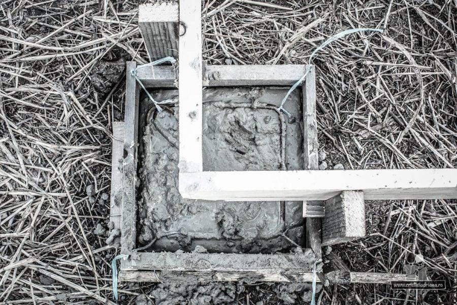 Cofraj beton foișor de lemn