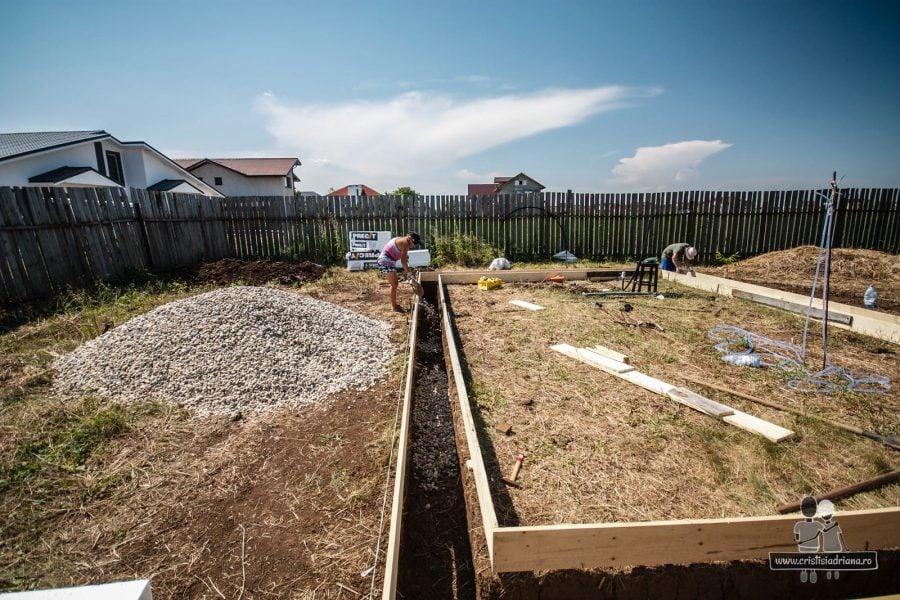 Cofraj perimetral fundatie casa