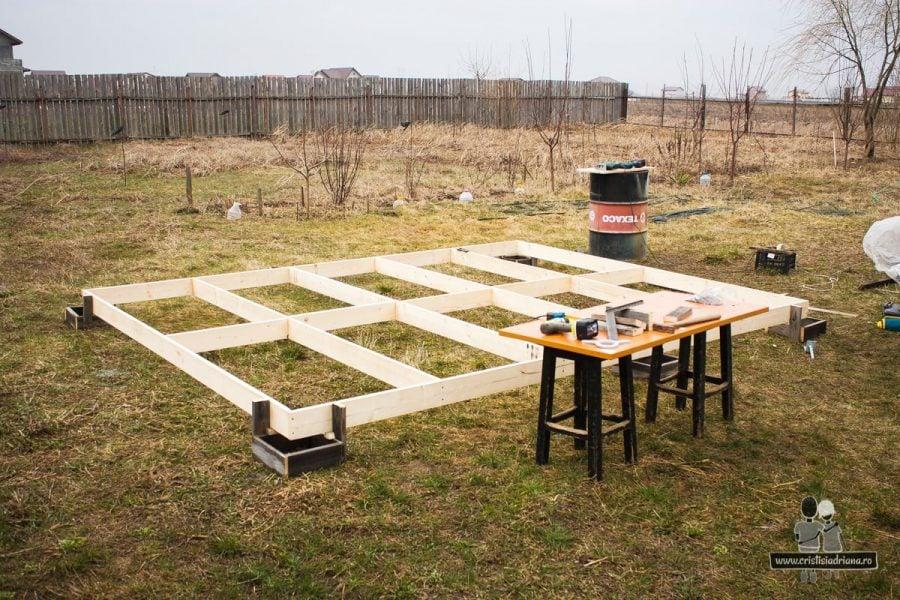 Platformă podea foișor de grădină