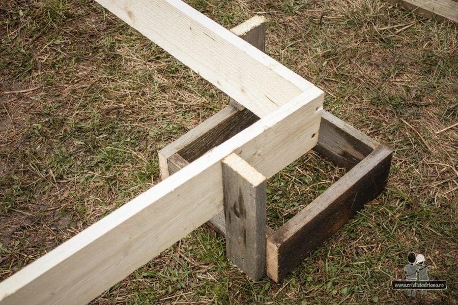 Podea foișor din lemn