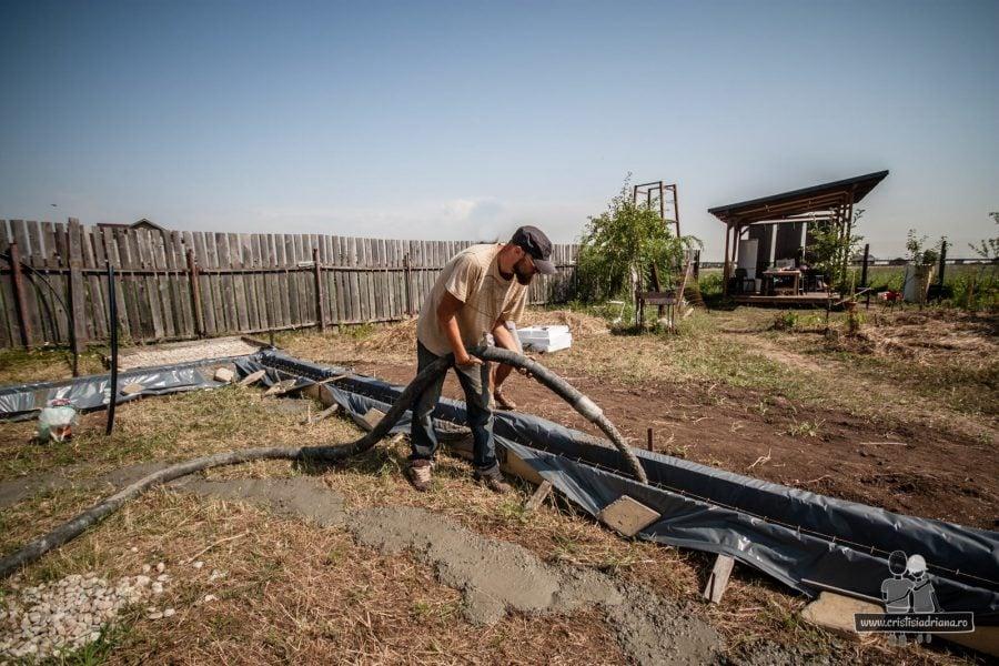 Turnat beton fundatie cu pompa