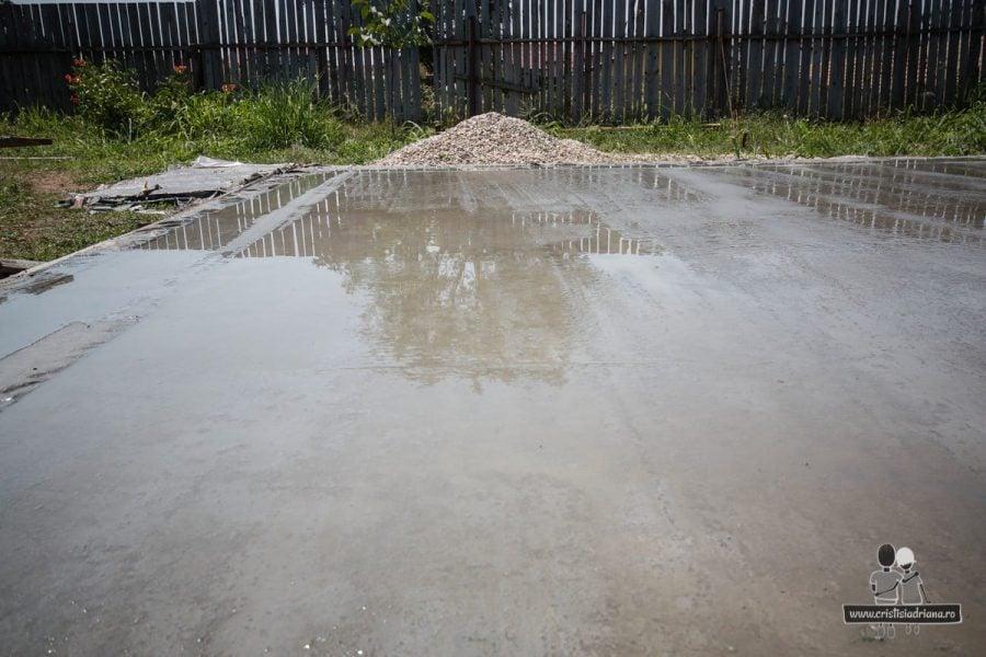 Uscare beton pentru placa