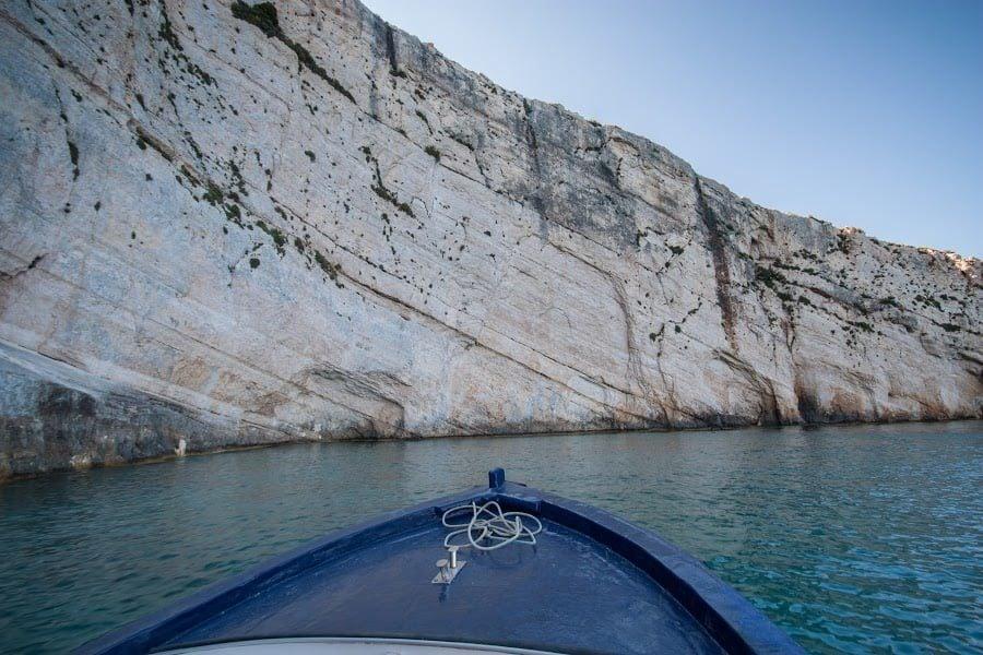 Cu barca spre Blue Caves, Zakynthos