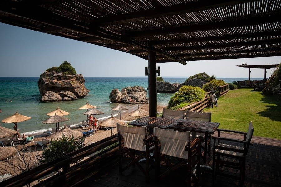 La terasă, la plajă, Zakynthos
