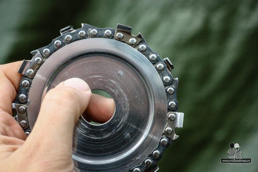 Disc de polizor cu lanț de drujbă