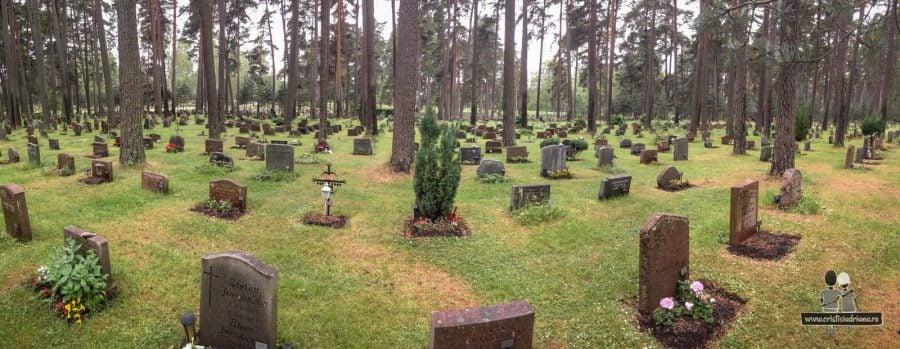 Cartiere în cimitirul Woodland