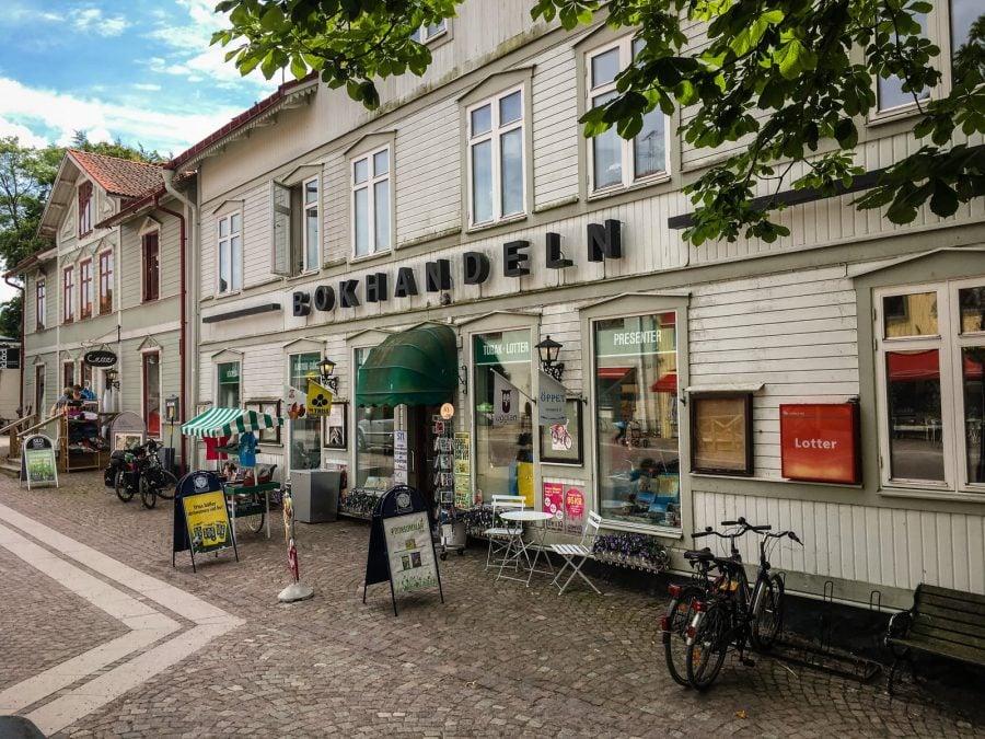 Fațadă de clădire în Trosa, Suedia