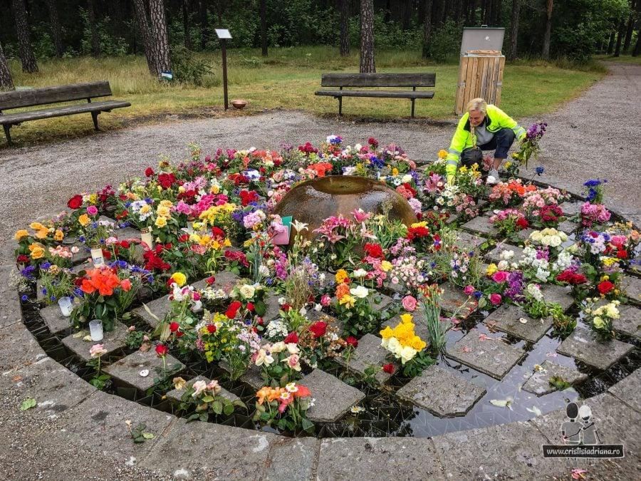 Flori în cimitirul Woodland din Stockholm