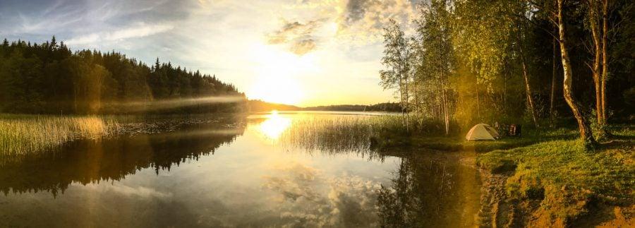 Lac rece în Suedia