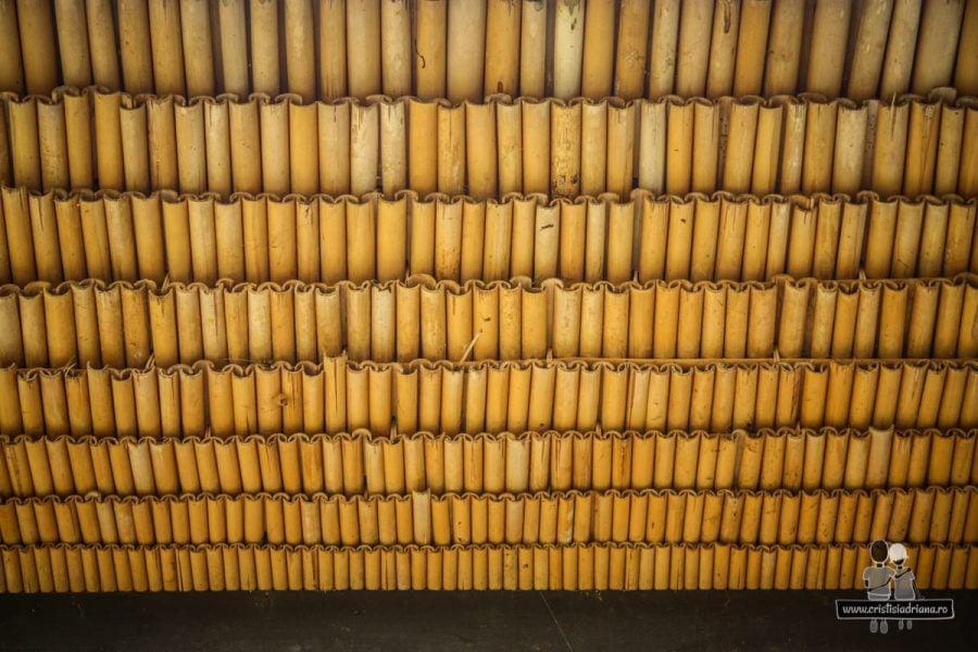 Țigle din bambus