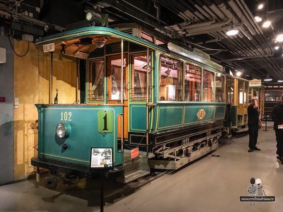 Tramvai fără cai în Muzeul Transportului, Stockholm