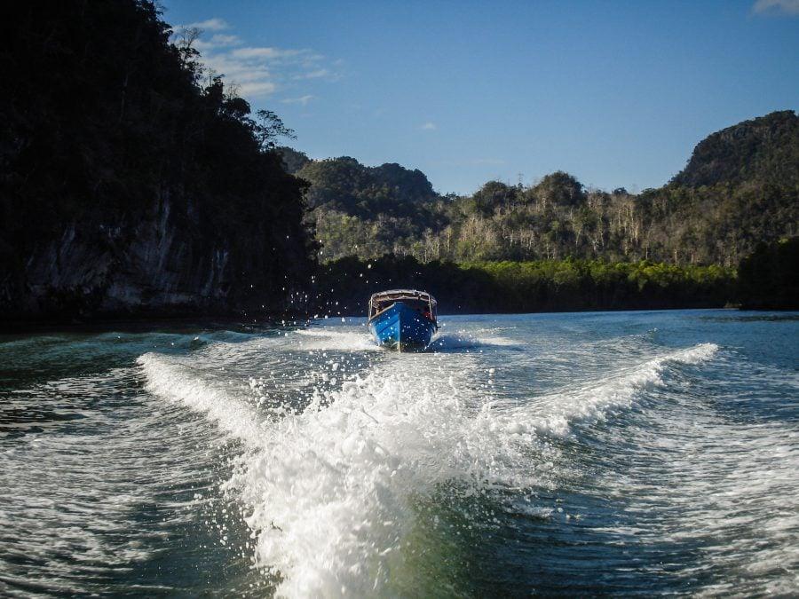 Barcă pe râul Kilim