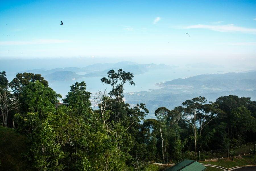 Priveliștea din vârful Gunung Raya din Langkawi