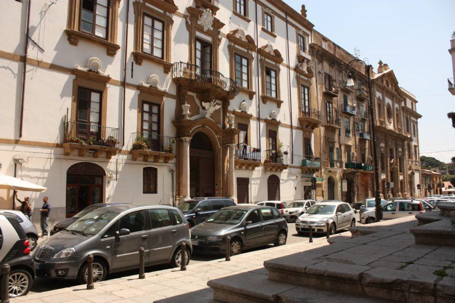 Stada în Palermo, Sicilia
