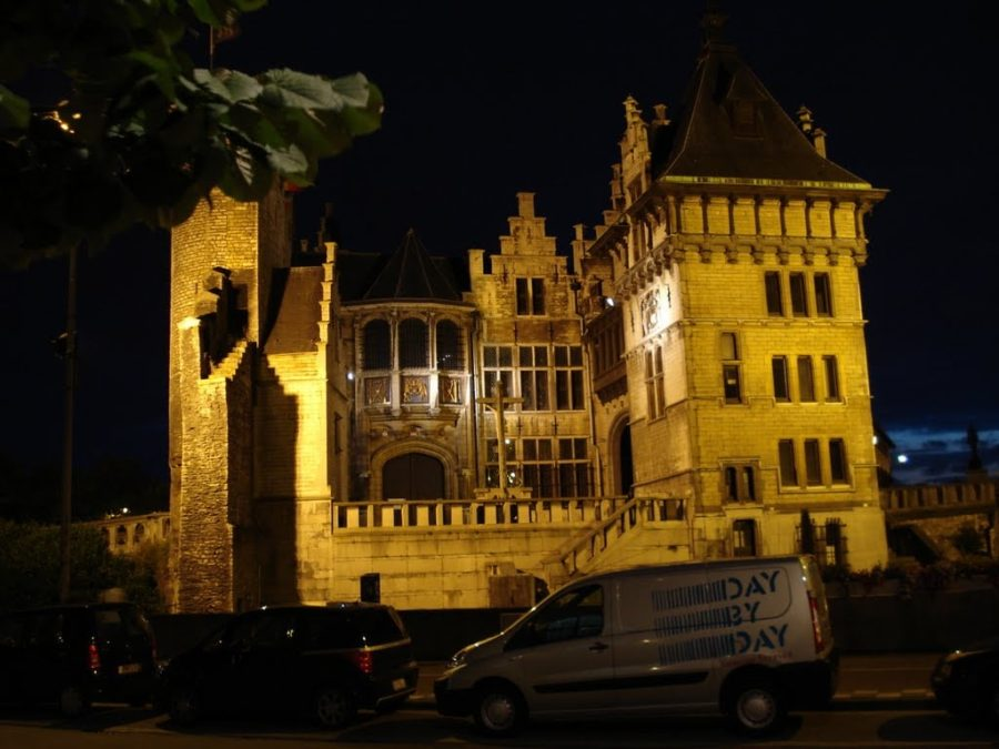 Steen Castle by night, Antwerp, Belgium