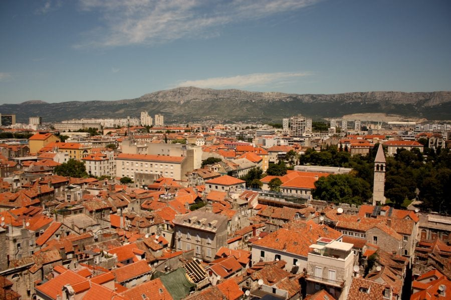 Vedere asupra orașului Split