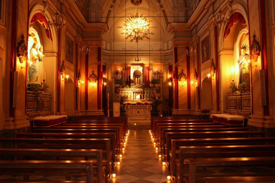 Imterior biserică în Catania, Sicilia