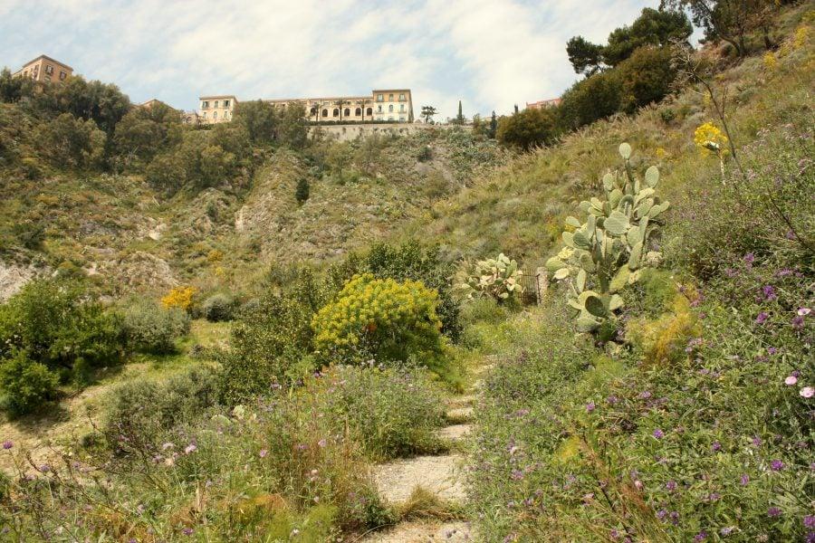 Urcare spre Taormina, Sicilia