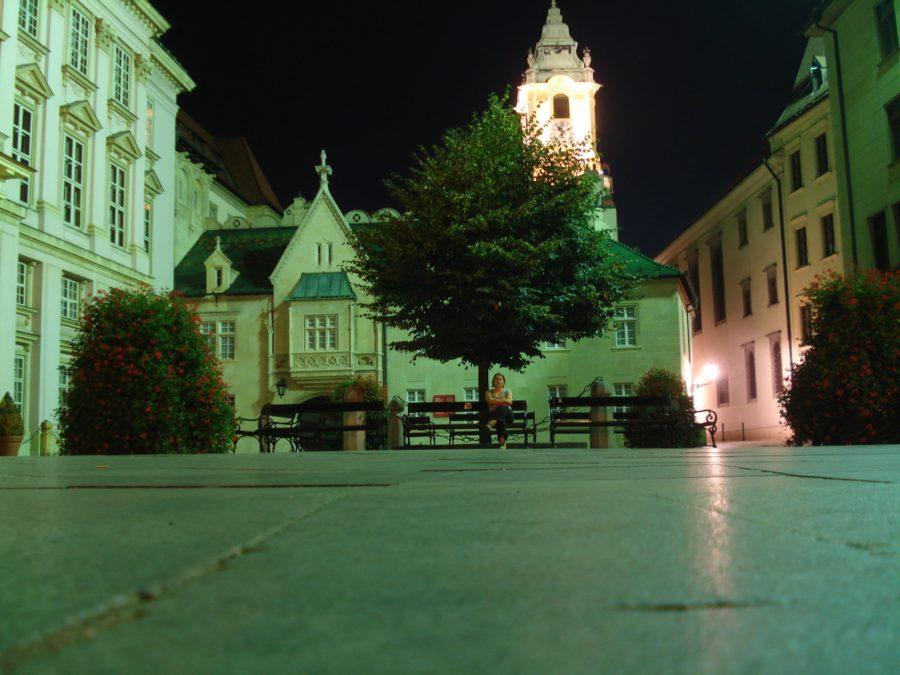 Centrul vechi al Bratislavei, noaptea