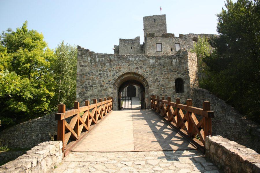 Intrarea în Castelul Strecno, Slovacia