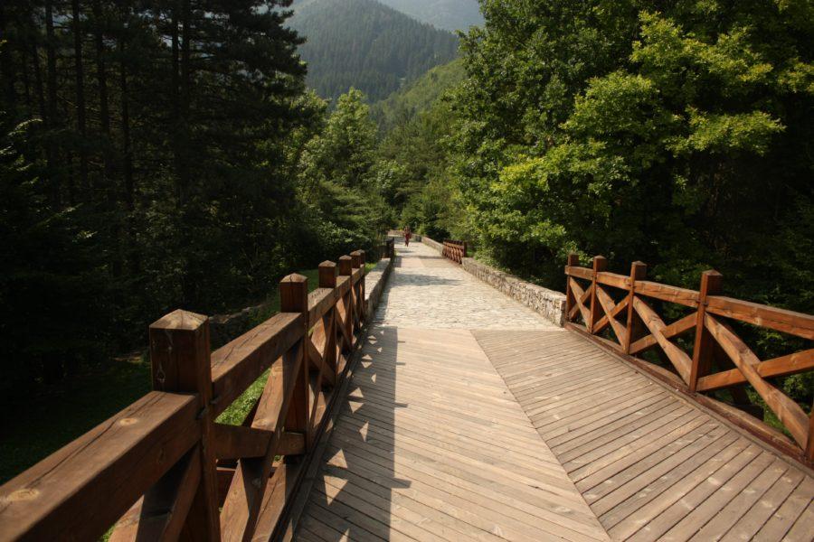 Podul de lemn al castelului Strecno, Slovacia