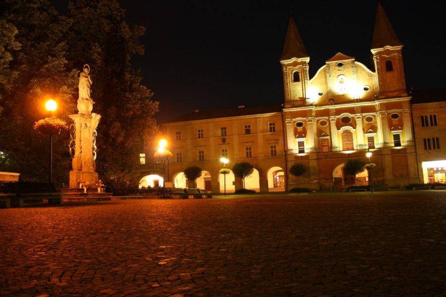 Piața centrală din Zilina, Slovacia