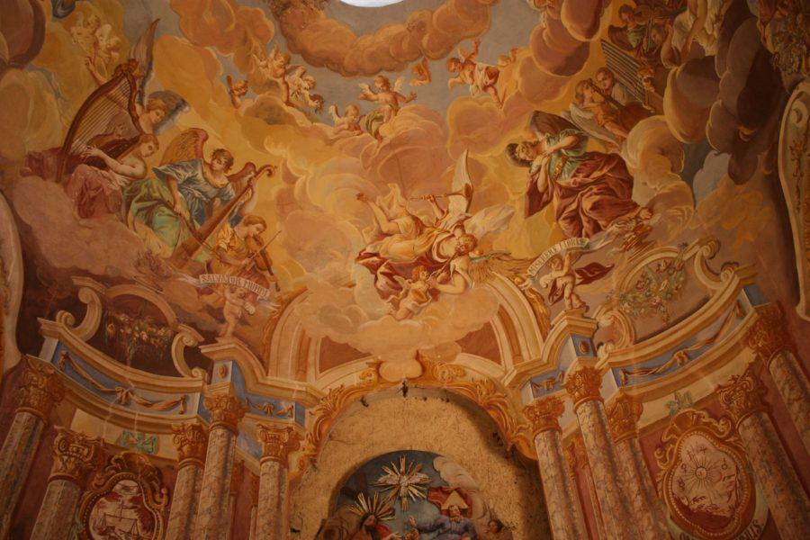 Picturi interioare stil baroc, Kalvary, Banska Stiavnica, Slovacia