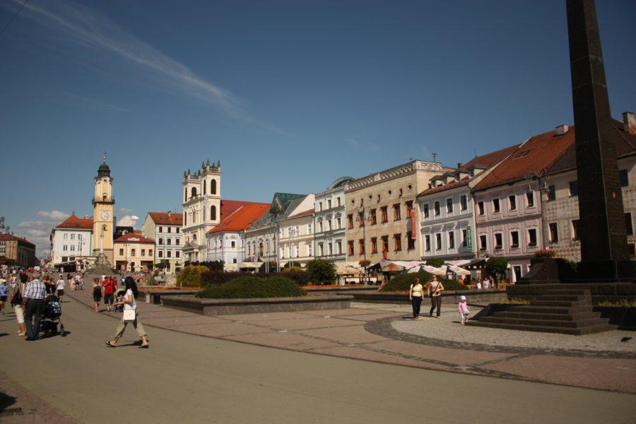 Piața centrală din Banska Bistrica, Slovacia