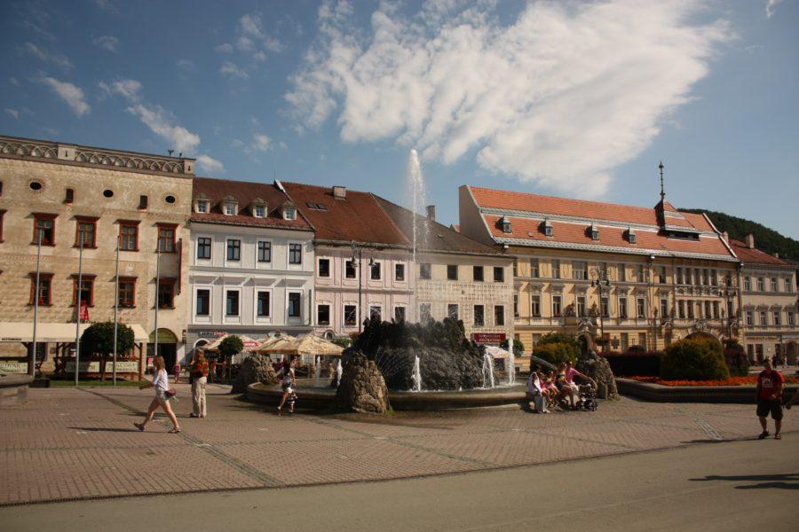 Clădirile din Banska Bystrica, Slovacia