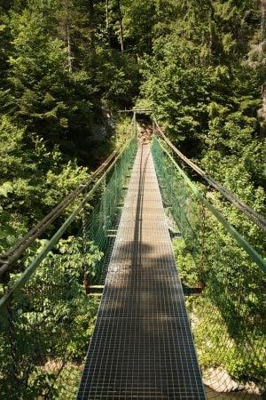 Podul Lanova Lavka unde ne rătăcim aiurea, Slovansky Raj, Slovacia