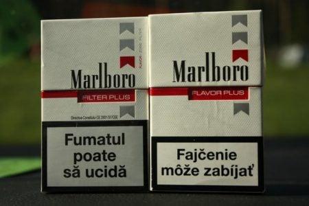 Comparație Marlboro Filter Plus Romania și Marlboro Flavor Plus Slovacia