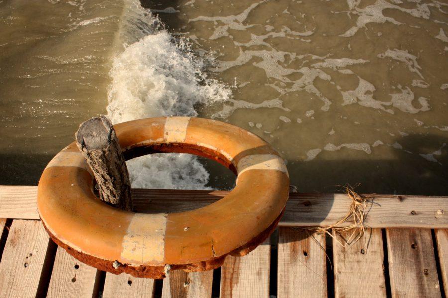 Colac de salvare, plaja Vadu, Marea Neagră