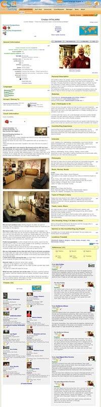 Preview pagina de profil CouchSurfing Cristi si Adriana