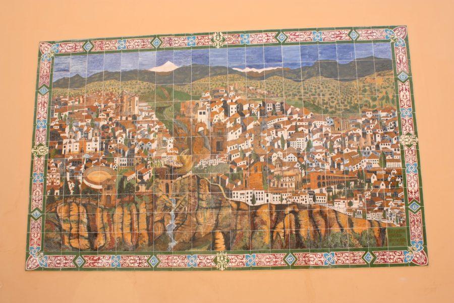 Mozaic - orașul Ronda, Spania