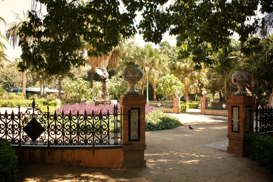 Gradina în Malaga, Spania