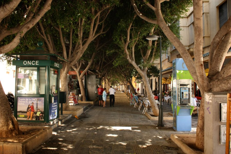 Stradă umbroasă, Costa del Sol, Malaga, Spania