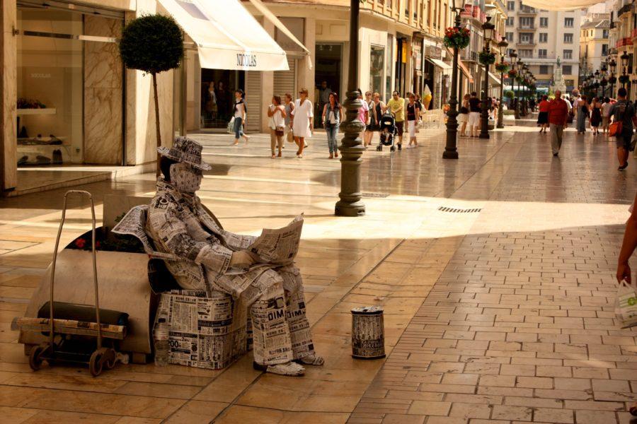 Mim pe strădă, Malaga, Spania