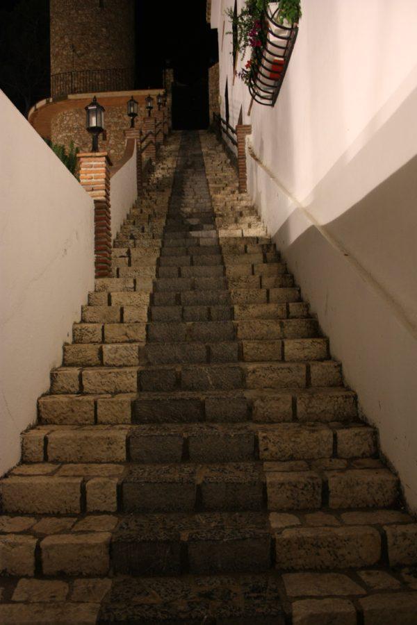 Trepte în satul Mijas, Andaluzia, Spania