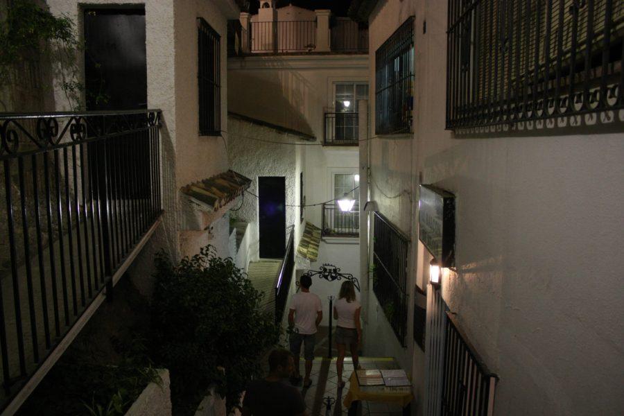Sat alb andaluzian, Mijas, Spania