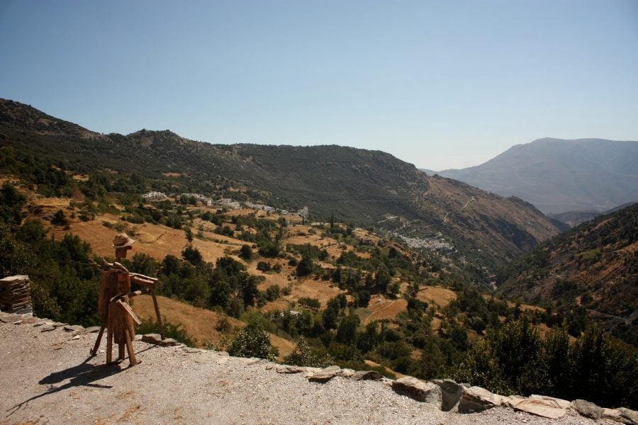 Bubion și Pampaneira văzute din Capileira, Spania