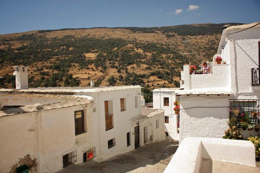 Capileira, sat din Alpuhara, Parcul Național Sierra Nevada, Andalusia, sudul Spaniei